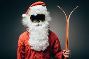 Cool Ski Mask Santa Claus
